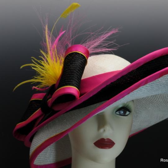Gorgeous parisisal  straw double brim derby hat