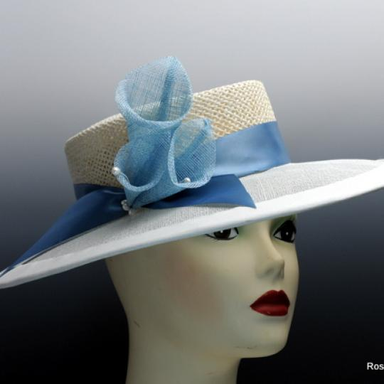 Ivory Boater Style Hat