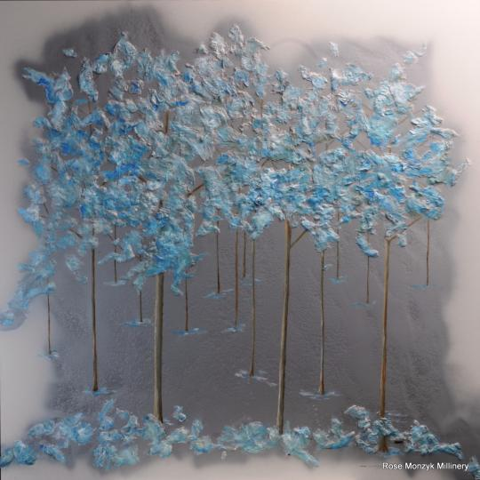 Silver and Blue Trees