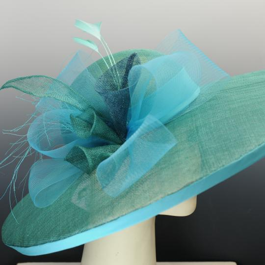 Teal Sinamy Derby Hat